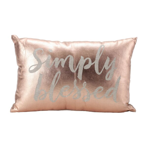 Simply Blessed 100% Cotton Lumbar Pillow by Hallmark Home & Gifts